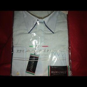 Men's Mansenee Satin French Cuffs Shirt